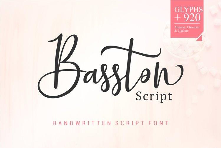 Basston Script example image 1