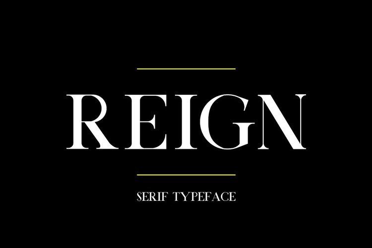 Reign Typeface