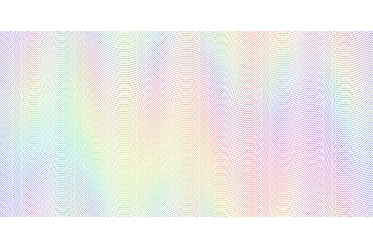 Watermark banknote pattern. Banknotes check guilloche lines example image 1