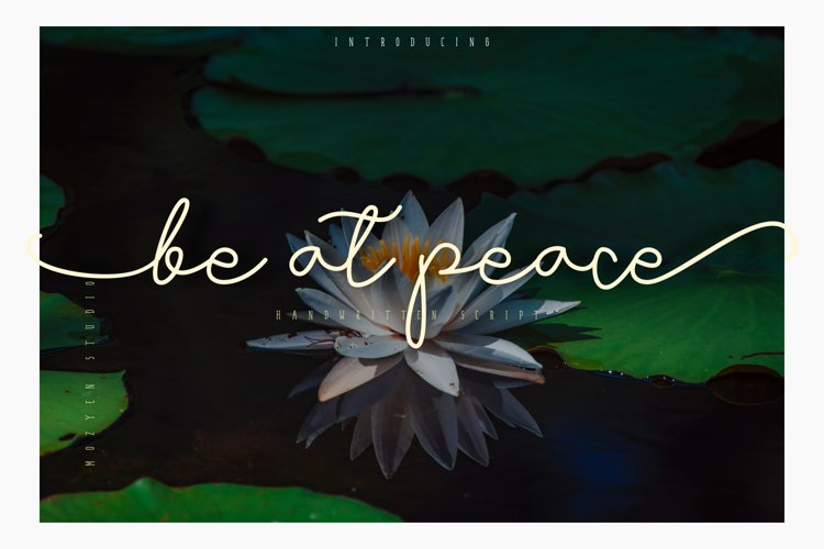 Be at peace example image 1