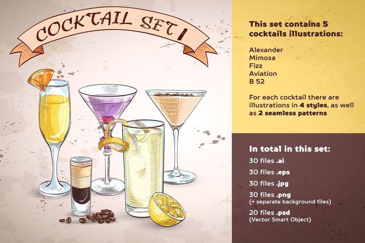 Cocktails set 1
