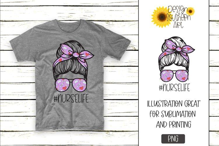 Sublimation Designs for Tshirts Nurse LIfe Hero Design example image 1