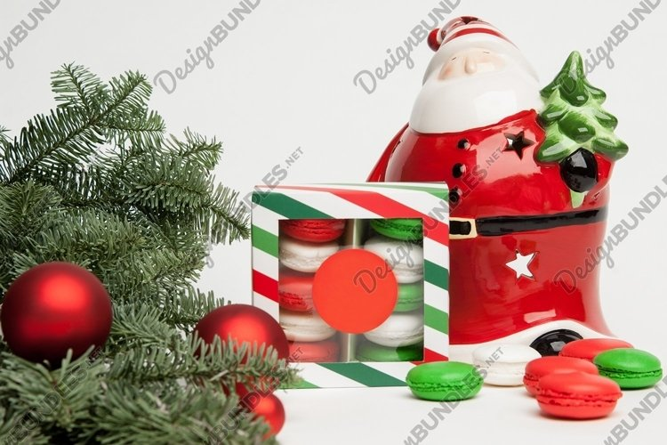 Christmas, Santa Claus with cookies and a Christmas tree example image 1