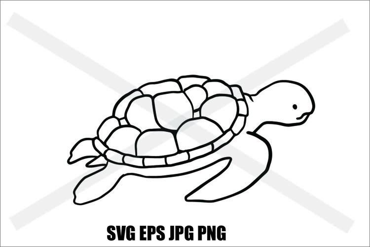 Sea Turtle - SVG EPS JPG PNG example image 1