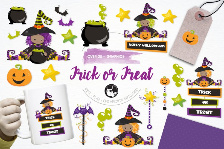 Trick or Treat graphics and illustrations example image 1