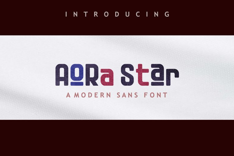 Aora star Font example image 1