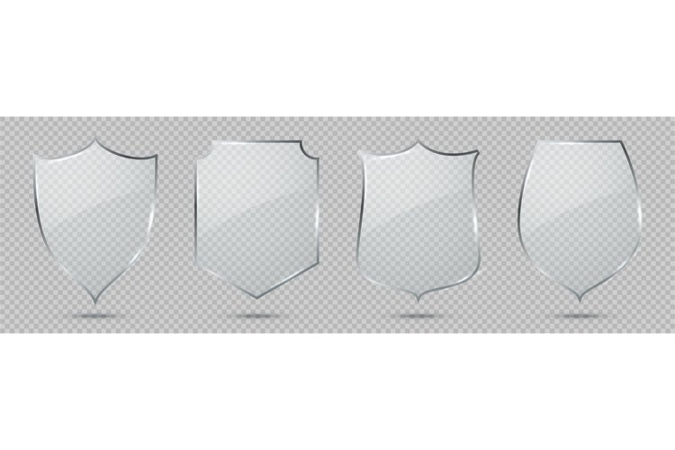 Glass shield. Defense sign, privacy protection guard symbol, example image 1