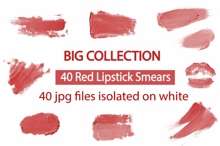 Big collection 40 lipstick red smears