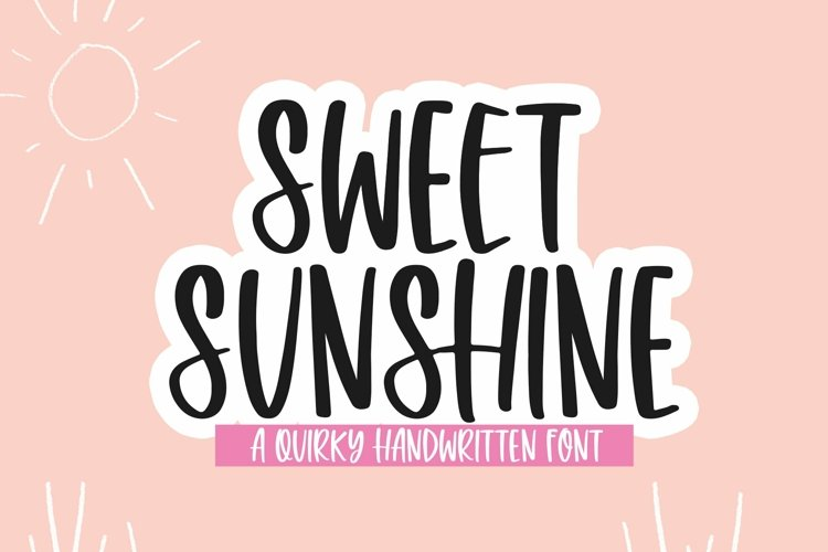 Web Font Sweet Sunshine - A Quirky Handwritten Font example image 1
