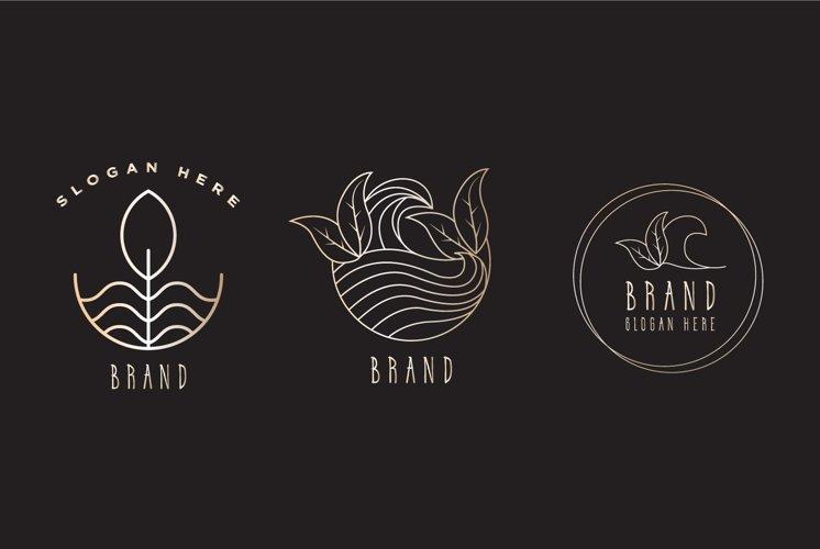 botanical line logo template example image 1
