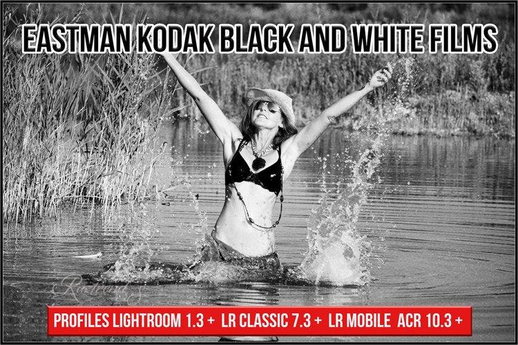 Eastman Kodak Black and White Films profiles Lightroom ACR