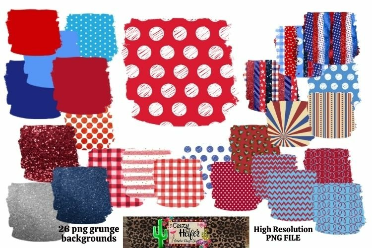 Patriotic July 4th Background for Dye Sublimation example image 1