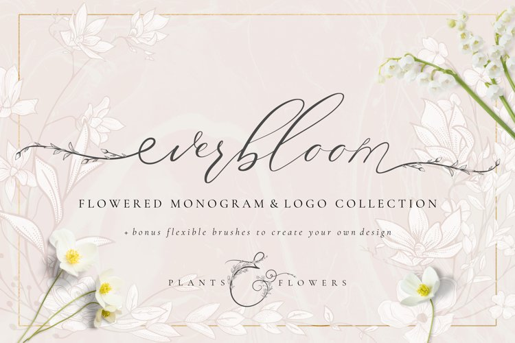 Flowered Monogram & Logo Collection