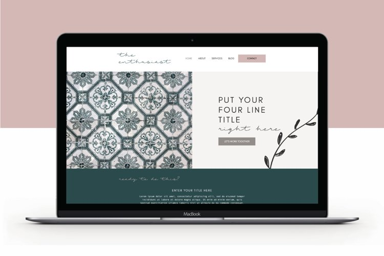 Wix Website Template | The Enthusiast example image 1