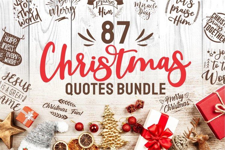 Christmas Bundle SVG Quotes bundle SVG Vector Elements example image 1