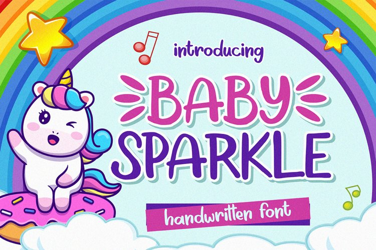 Baby Sparkle - Handwritten Font example image 1