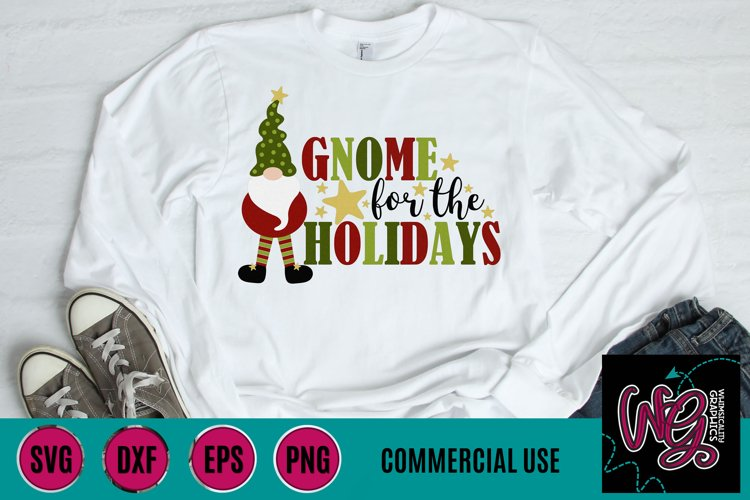 Gnome For the Holidays SVG DFX PNG EPS Comm example image 1