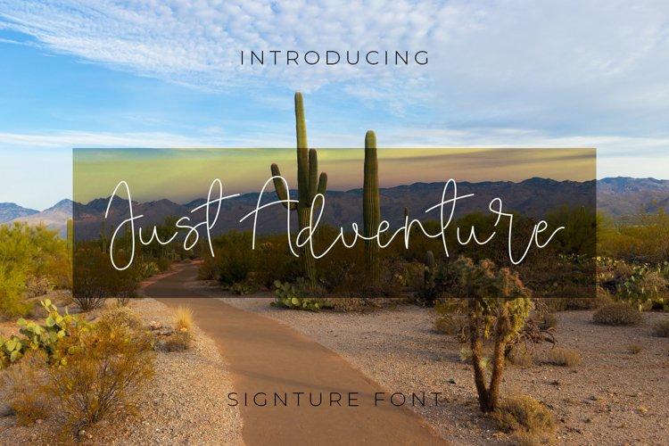 Just Adventure Signature Font Script example image 1