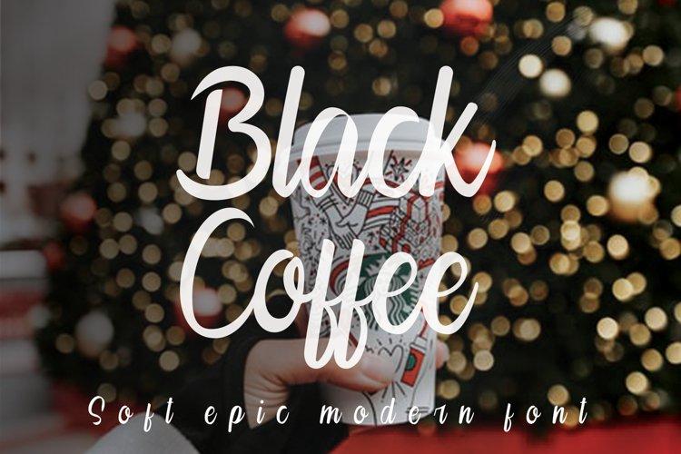 Black Coffee   Modern Calligraphy example image 1