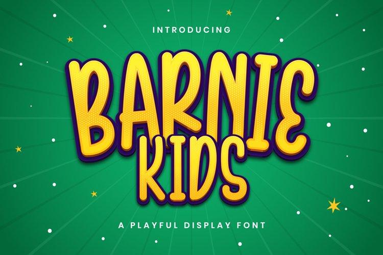 Barnie Kids - Playful Display Font example image 1