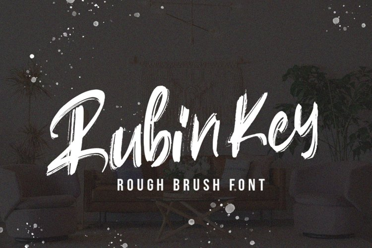 Rubin Key - Brush Font example image 1
