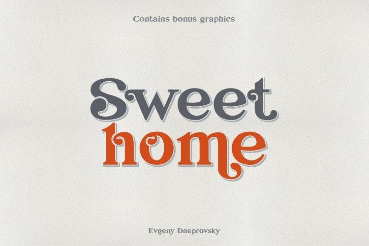 Sweet home, elegant font. example image 1