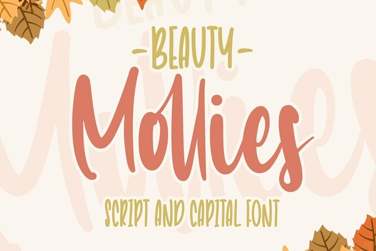 Beauty Mollies   Font Duo example image 1