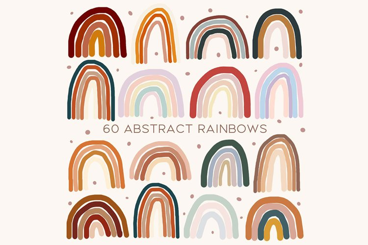 60 Abstract rainbows clipart example image 1