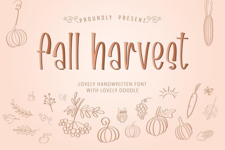 Fall harvest- A handwritten sans serif font example image 1