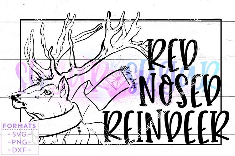 Red Nosed Reindeer SVG