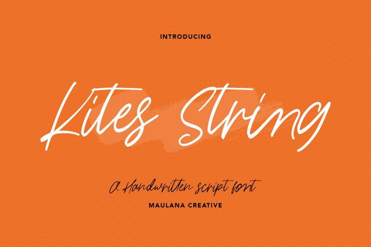 Kites String Handwritten Font example image 1