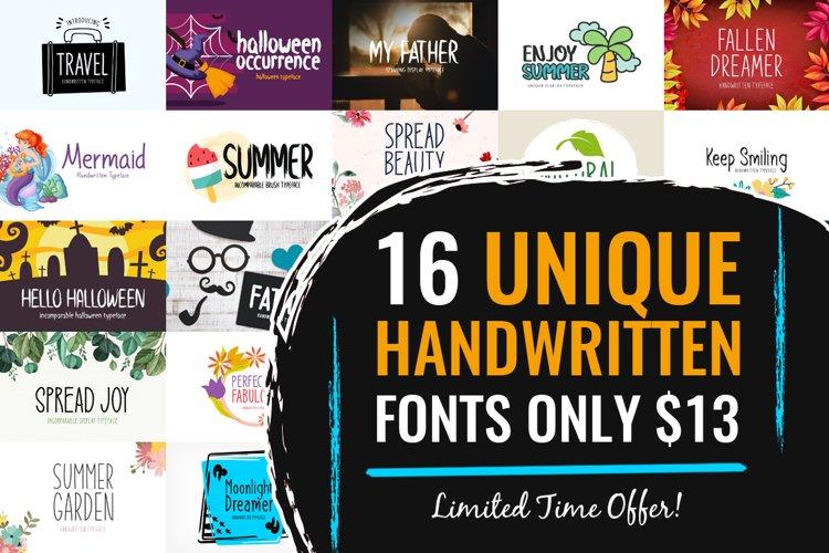 16 Unique Handwritten Fonts Only $13