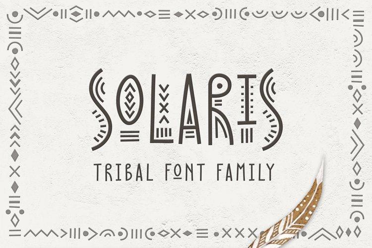 Solaris - Tribal Font Family example image 1