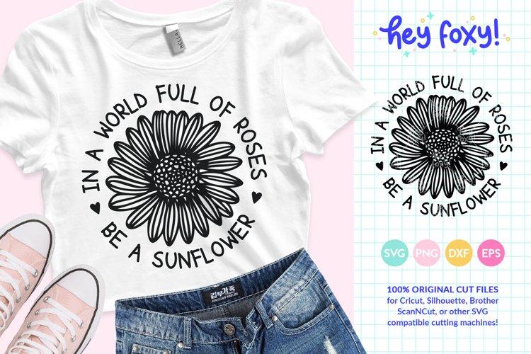 Sunflower SVG - Flower Quote SVG