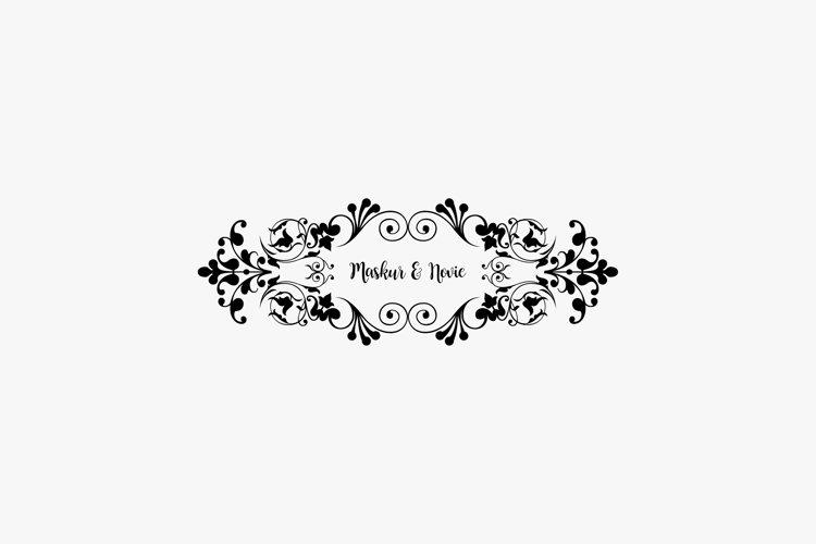 Ornament vector for wedding