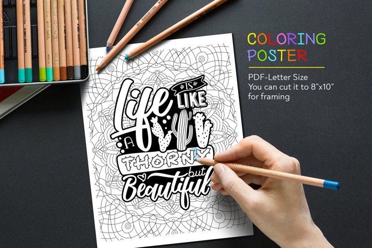 Anti-Stress Quote for Coloring example image 1