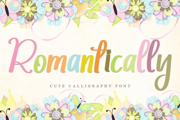 Romantically   Cute Calligraphy Font example image 1