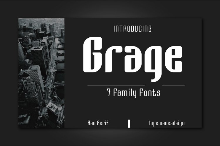Grage Sans Font Family example image 1