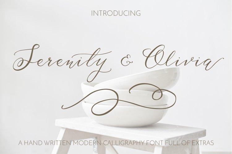 Serenity & Olivia Script Font