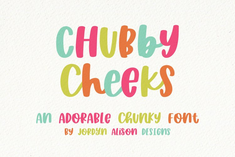 Chubby Cheeks, Thick Handwritten Sans Serif Font example image 1