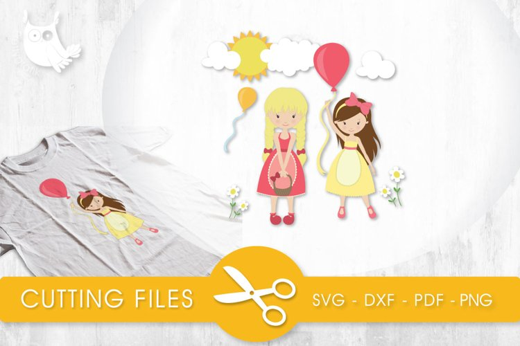 Sunshine Cuties cutting files svg, dxf, pdf, eps included - cut files for cricut and silhouette - Cutting Files SG example image 1