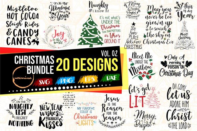 Christmas Bundle Vol 02 - 20 Designs PNG PNG DXF EPS