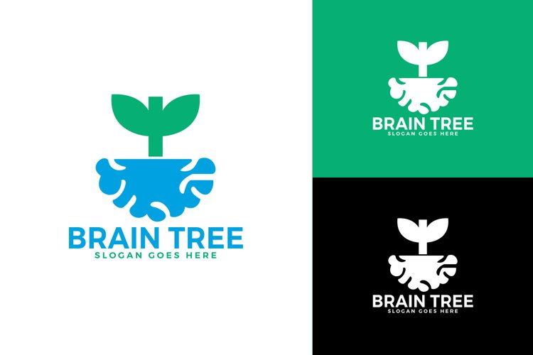Brain Tree logo design. Smart grow logo design. example image 1