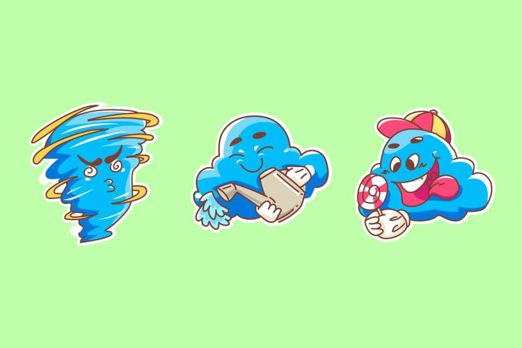 Cloud Sticker illustrations example image 1