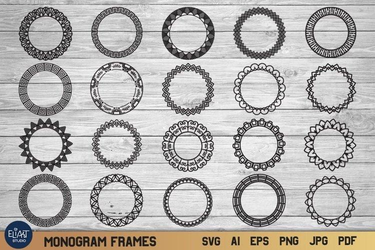 Monogram Frame SVG Collection | Geometric Shape SVG