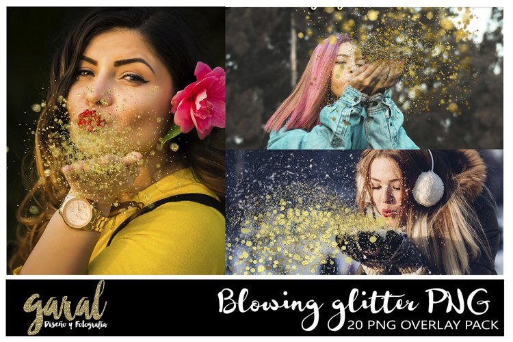 Blowing glitter Photoshop Overlays, PNG with transparent bac example image 1
