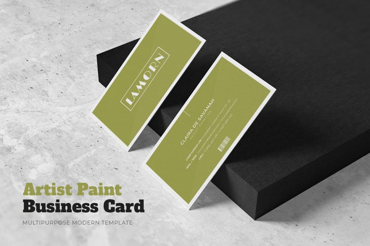 Artist Painting Business Card example image 1