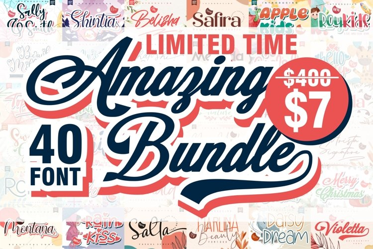 BIG BUNDLE V.2 - Amazing Font Collection for your needs example image 1