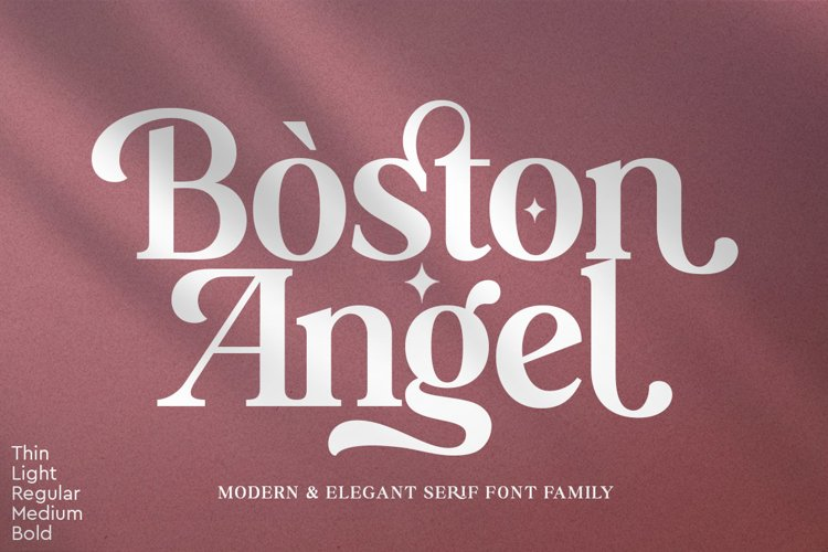Boston Angel - Modern & Elegant Serif example image 1