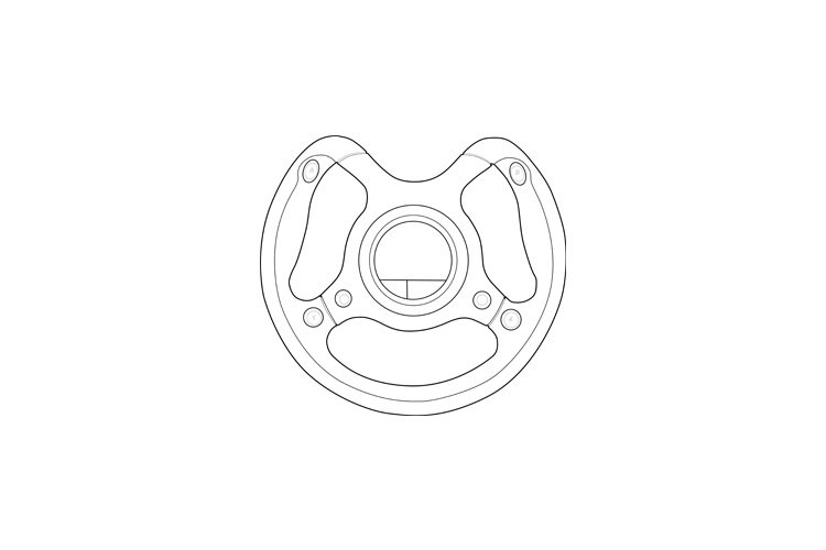 steering wheel controller done in black and white example image 1